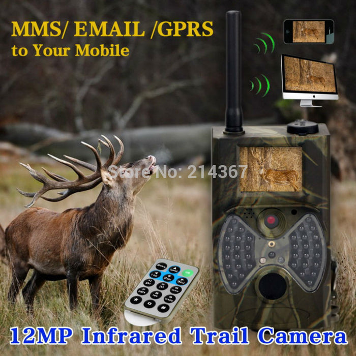 1080P HD GSM GPRS MMS Hunting Game Cameras Trap - ManSeeManWant