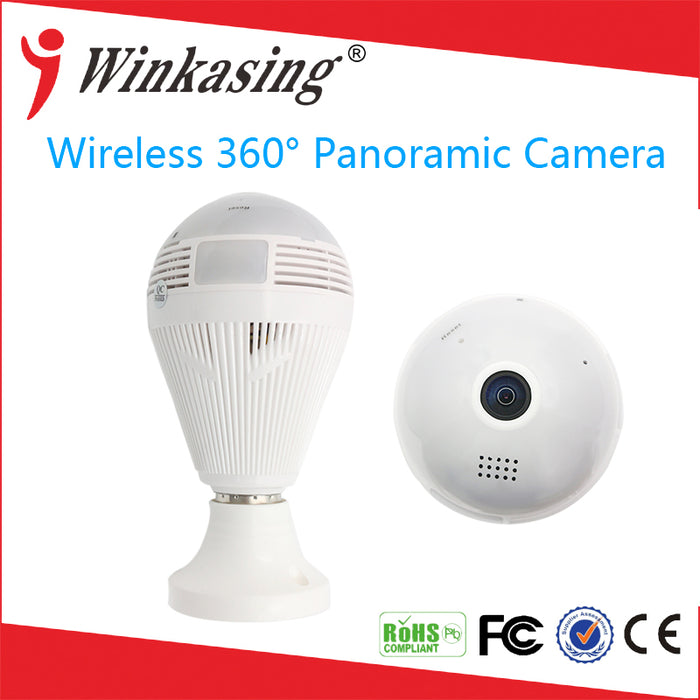 1080P Wireless Panoramic E27 Bulb Light Camera IP Infrared Night VisionSmart Home CCTV 360 degree 2MP Security VR Camera  WiFi - ManSeeManWant