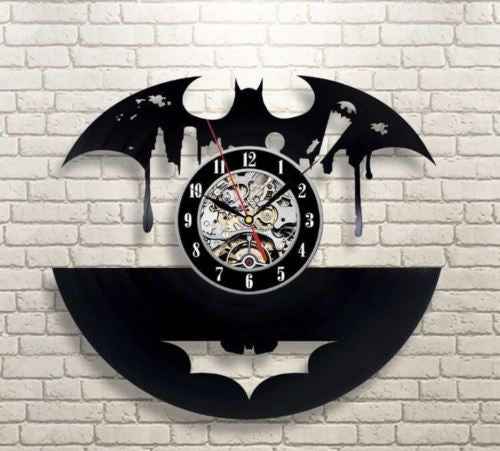 Batman wall clock broken record home decor - ManSeeManWant