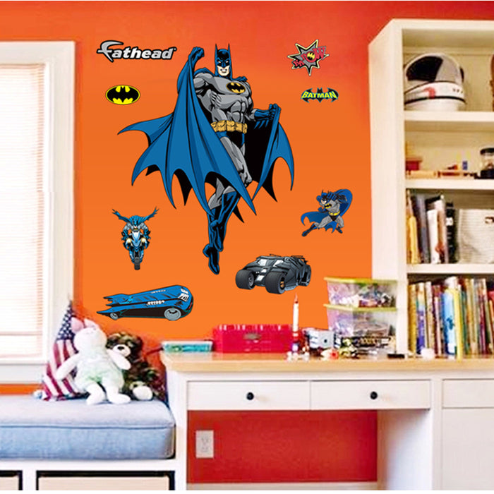 3d batman wall stickers removal boys kids baby decal - manseemanwant