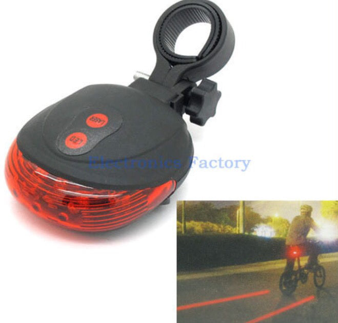 Bicycle Laser and LED rear safety light - ManSeeManWant