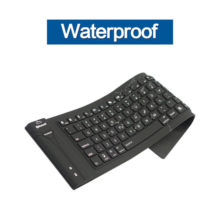 3.0 Bluetooth Keyboard Wireless Flexible Silicone Roll up - ManSeeManWant