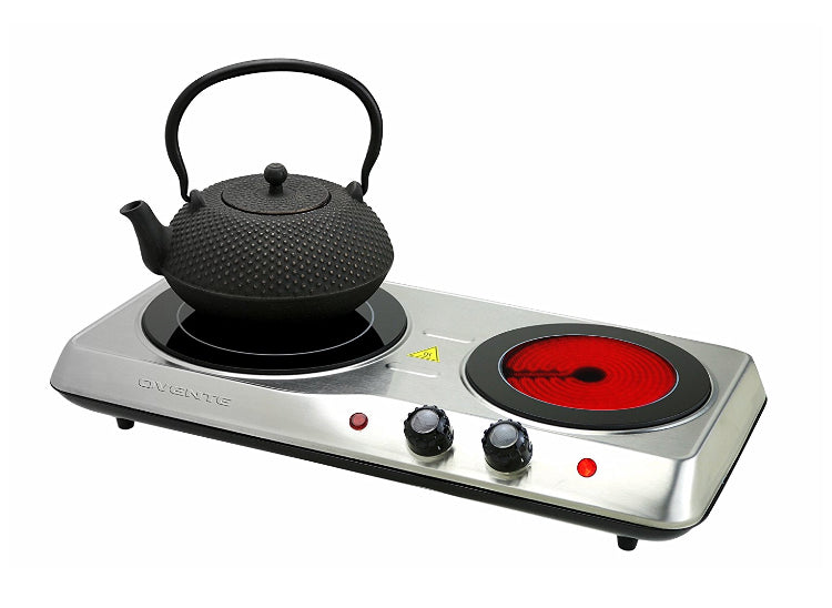 Countertop Burner, Double Cooktop, Indoor and Outdoor Stove, 1700 Watts - ManSeeManWant