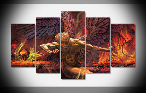 Sad Wings of Destiny heavy metal Poster Framed Canvas - ManSeeManWant
