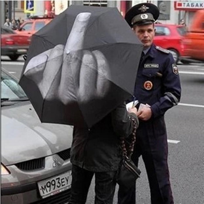 Black Middle Finger Umbrella Windproof - ManSeeManWant
