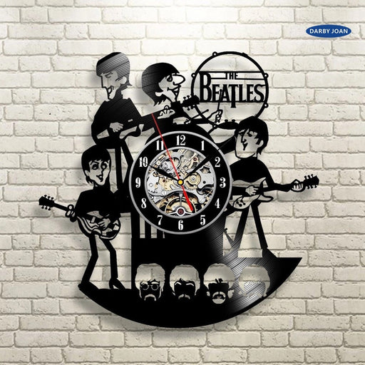 Abbey Road vinyl record The Beatles  wall clock - ManSeeManWant