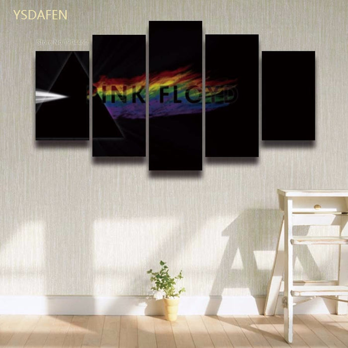 5 pieces Pink Floyd music canvas Canvas Print