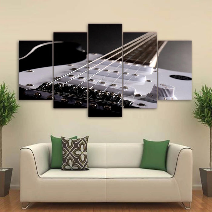 Guitar 5 Panel Canvas Man-Cave Wall Swag - ManSeeManWant
