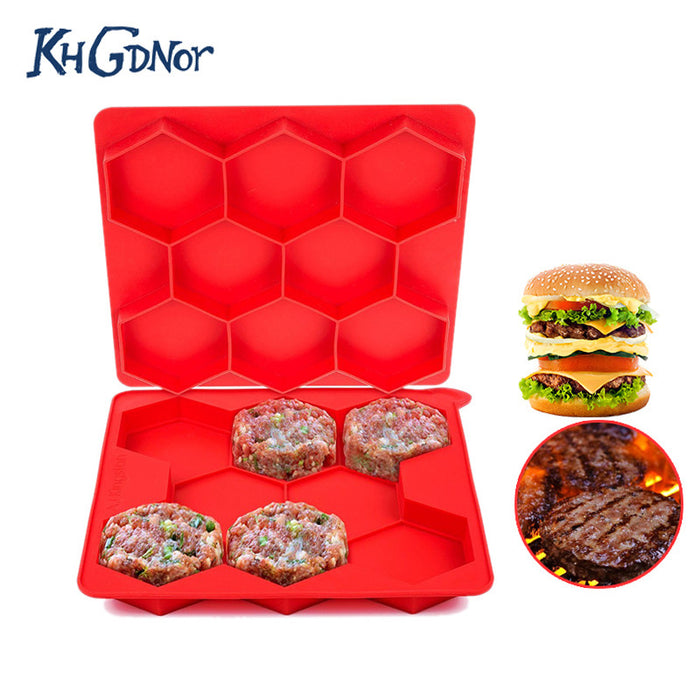 8 Grids Hexagon Hamburger Mold Burger Press  Kitchen Accessories - ManSeeManWant