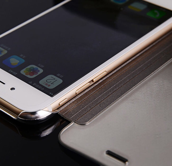 "Luxury See-through Mirror Flip Case For iPhone 6 6S S iPhone6 4.7"" Fundas Coque For 6 Plus 6S Plus 5.5"" Apple Brand Cover Gold - ManSeeManWant"