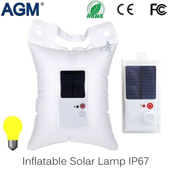 Inflatable LED Solar Camping Lamp Foldable PVC Bag For Outdoor - ManSeeManWant