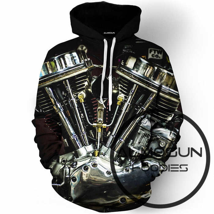 Harley Motorcycle 3D All Over Print Pullover Hoodies Men Women - ManSeeManWant