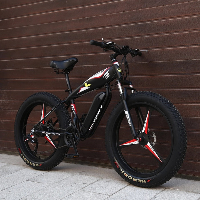 "Electric snow mountain bike 26""x4"" Wheels high speed - ManSeeManWant"