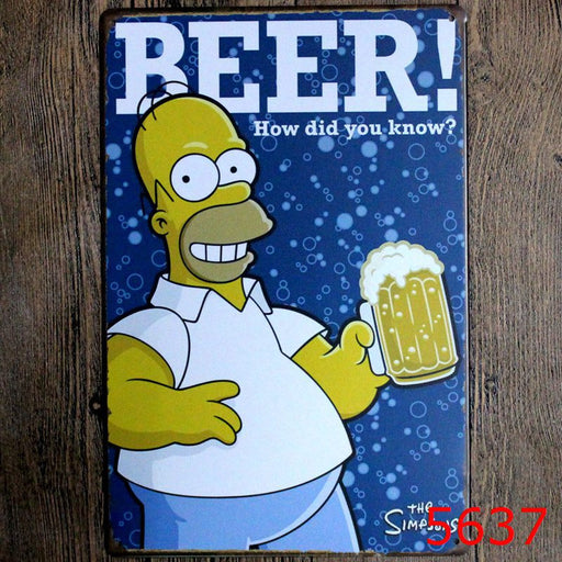 BEER HOW DID YOU KNOW Tin Sign Home ManCave - ManSeeManWant