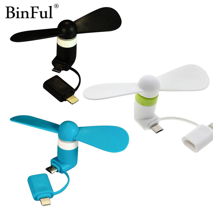 2 in 1 Portable Micro USB Fan For iPhone Android Smartphones Gadget - ManSeeManWant
