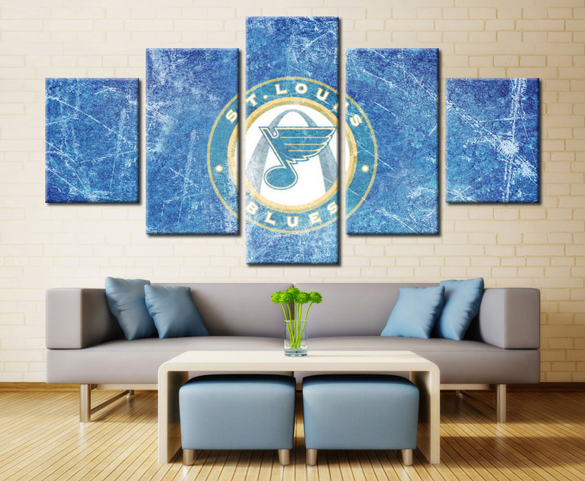 5 Panel Canvas For ManCave St. Louis Blues NHL - ManSeeManWant