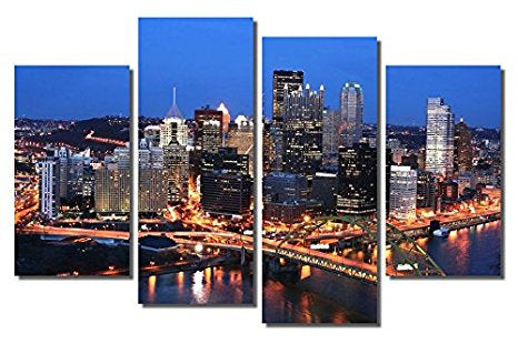 Pittsburg Skyline Canvas Wall Art