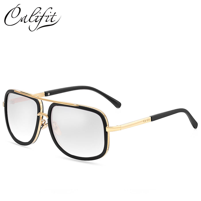 CALIFIT Sunglasses Men Original Brand vintage UV400 Shades Retro - ManSeeManWant