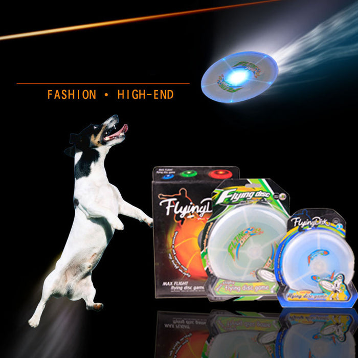Colorful Led Light up Pet  Flying Disc Night Frisbee Durable - ManSeeManWant