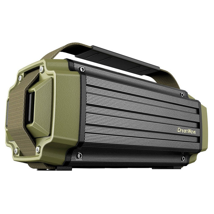 Dreamwave TREMOR Army Green Aluminum Wireless 50W Rugged Outdoor Bluetooth Speaker - ManSeeManWant