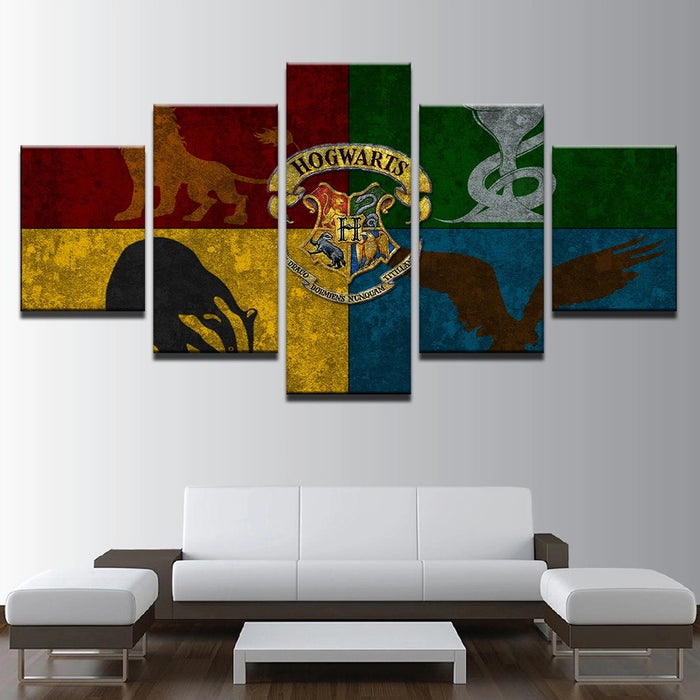 Harry Potter 5 Panel Canvas Art Wall Swag Manseemanwant