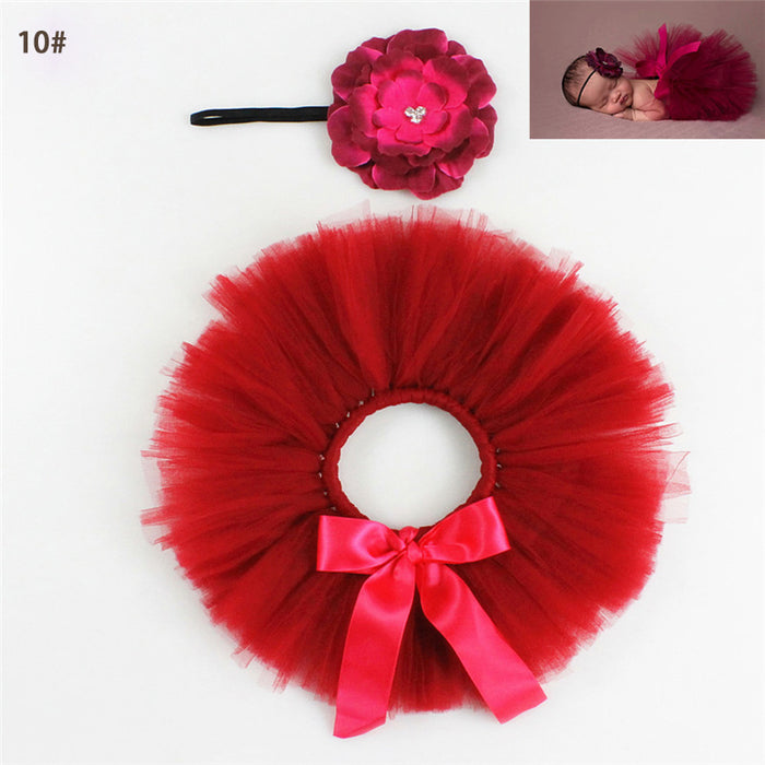 Haller Baby Girls Tutu With Flower Headband Infant Fluffy - ManSeeManWant