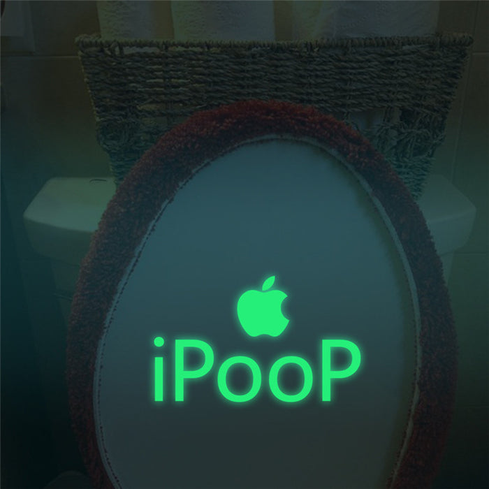 Glow in The Dark Sticker iPoop Waterproof Toilet - ManSeeManWant