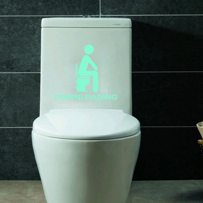 Bathroom Luminous Sticker Toilet Fluorescent Wall Sticker - ManSeeManWant