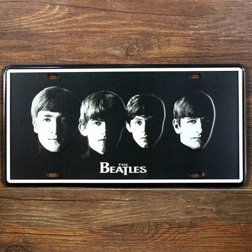 "Beatles ""MANCAVE"" Metal Tin Signs"