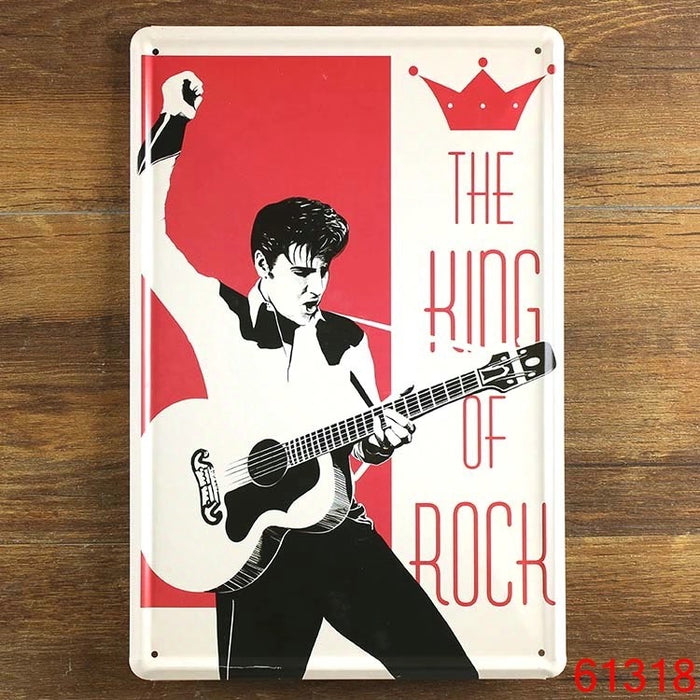 "Elvis ""MANCAVE"" Metal Tin Signs"