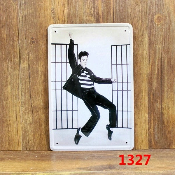 "Elvis ""MANCAVE"" Metal Tin Signs - ManSeeManWant"