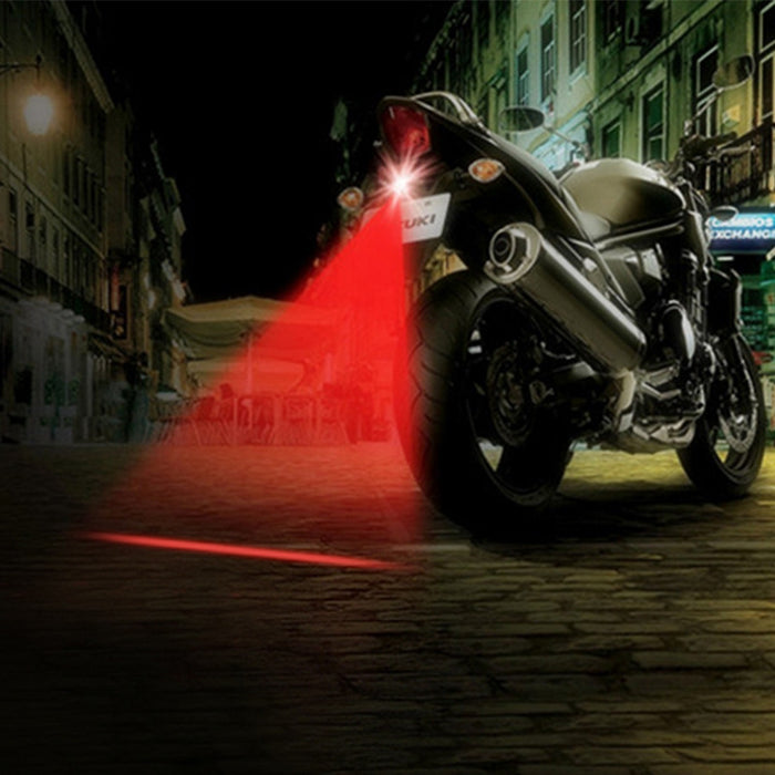 LED Motorcycle Laser Fog Light Anti Collision Tail Light - ManSeeManWant