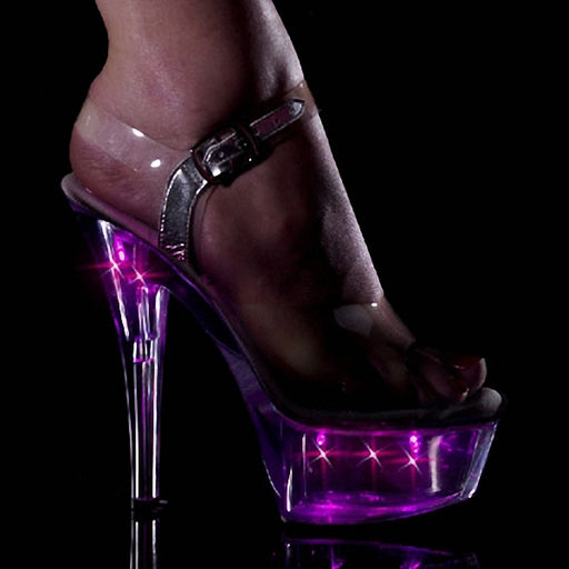 Luminous high heels women's shoes lighted