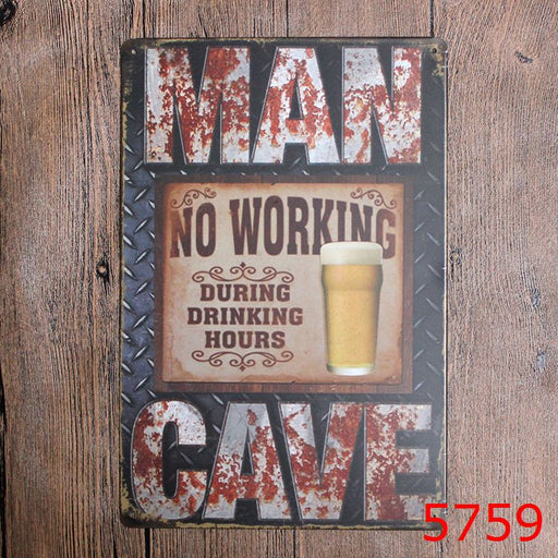 MANCAVE Metal Tin Signs