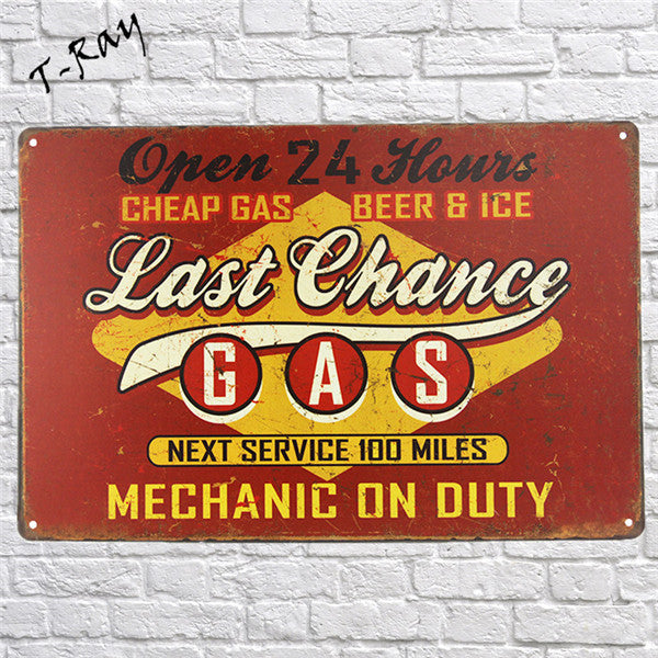 Metal Sign Vintage Tin Sign Wall Garage pub mancave