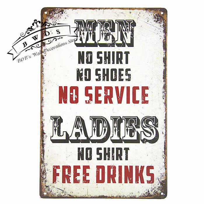 Metal Tin Signs ManCave Garage Pub Bar Home Wall Decor