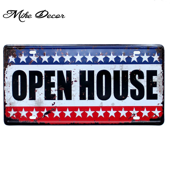 License Plates Vintage Pub decor Metal Tin signs