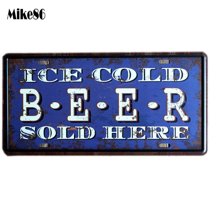 License Plates Vintage Pub decor Metal Tin signs - ManSeeManWant