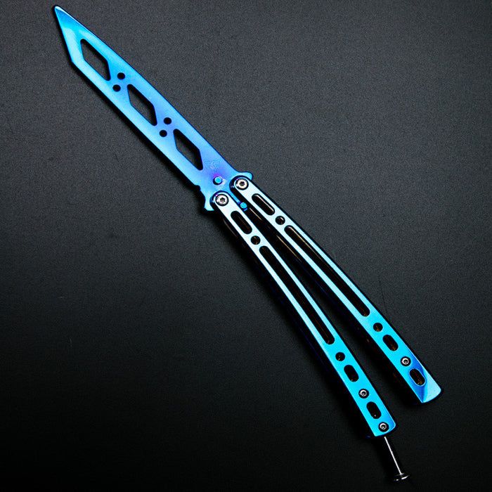 Mirrored folding butterfly knife Tool Fathers Day