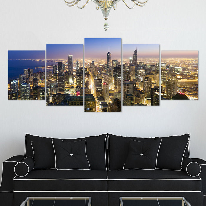 Chicago 5pcs/set Canvas wall art pictures - ManSeeManWant