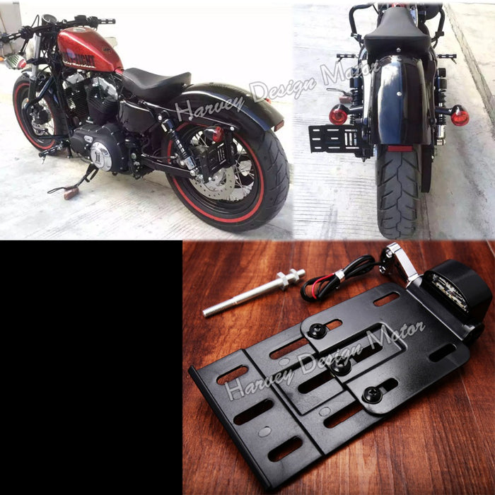 Motorcycle Telescopic LED Side Mount Plate Holder ... & Motorcycle Telescopic LED Side Mount Plate Holder - ManSeeManWant