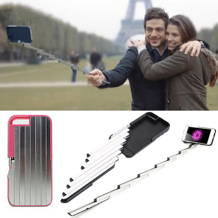 Aluminum Case for Iphone Selfie Sticks Bluetooth Case - ManSeeManWant
