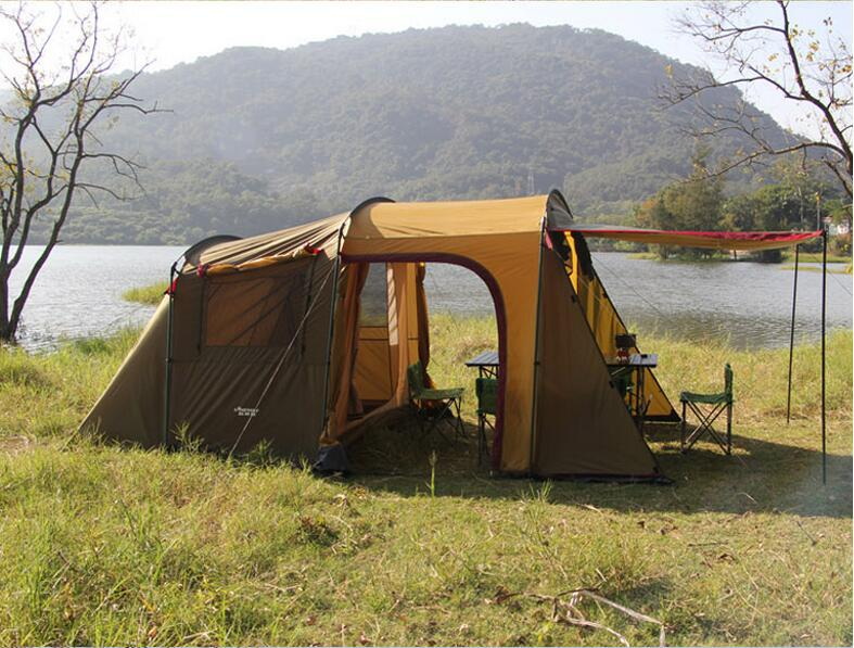 Outdoor 5-8 Persons Car Travel Tent For Camping Awning