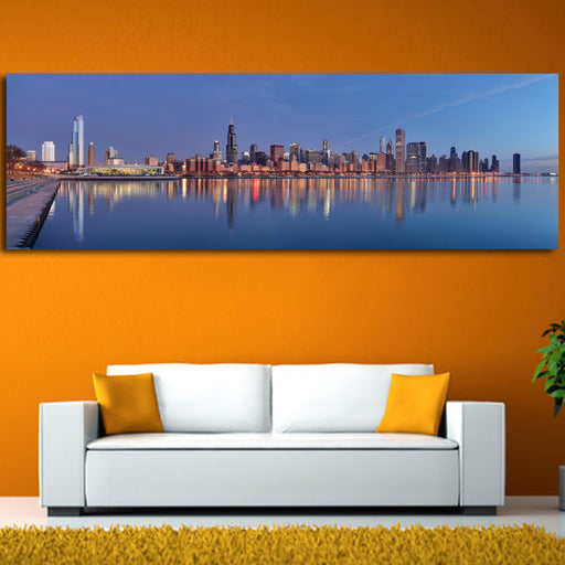 Canvas Chicago sunrise Modern Wall Pictures Lanscape Art - ManSeeManWant