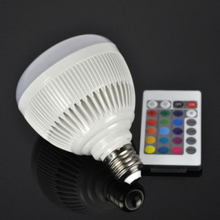 Smart Bluetooth Speaker Bulb Music Playing  Bulb Light w/ Remote Control - ManSeeManWant