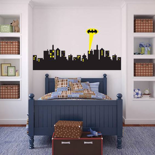 Removable Wall sticker GOTHAM CITY SKYLINE Batman Deca - ManSeeManWant