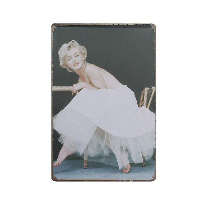 Shabby Chic Sexy Lady Decor Retro Tin Sign Vintage Metal Wall - ManSeeManWant