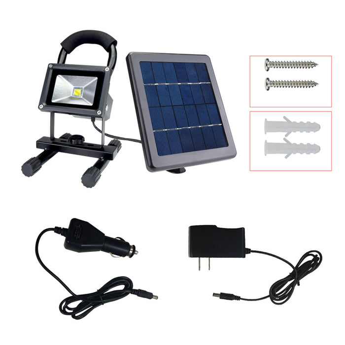 Solar LED flood Light Outdoor Waterproof  Rechargeable Camping - ManSeeManWant