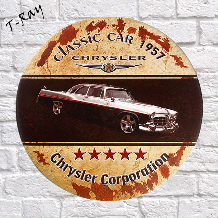 Tin signs Round Car Garage Decor Wall  Home Decor, Man Cave