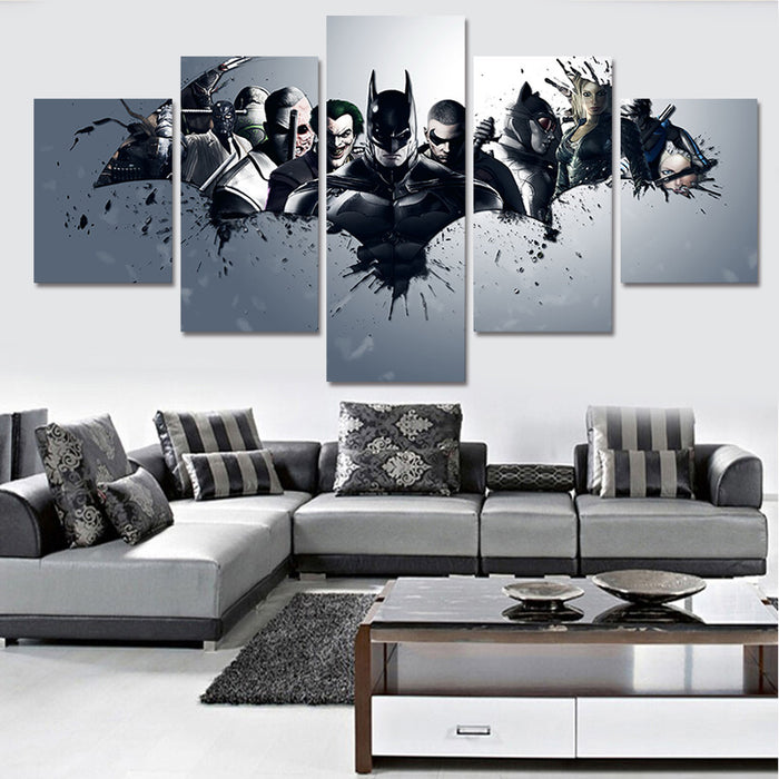 Joker Batman  5 Piece Decor Canvas - ManSeeManWant